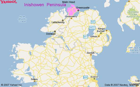 Donegal On Map Of Ireland.Maps Of Greencastle And Inishowen